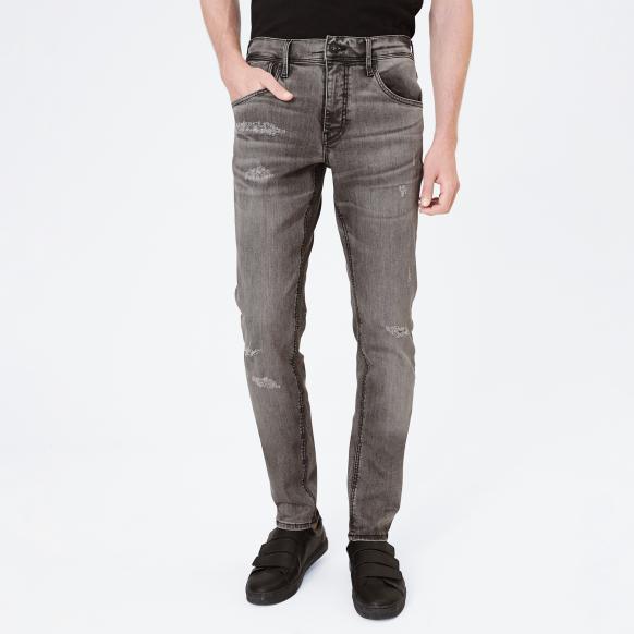Grey Destroyed Jeans CLE-VE grey destroy
