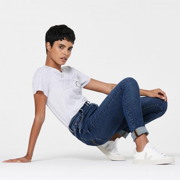 High Waist Skinny Jeans AL-MA blue blue