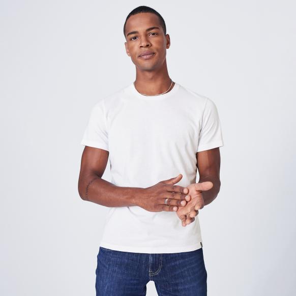 T-Shirt mit Necktape white