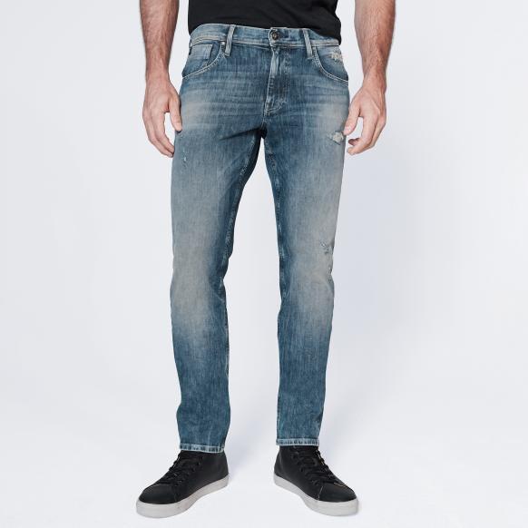Vintage Blue Destroyed Jeans CLE-VE vintage blue destroy