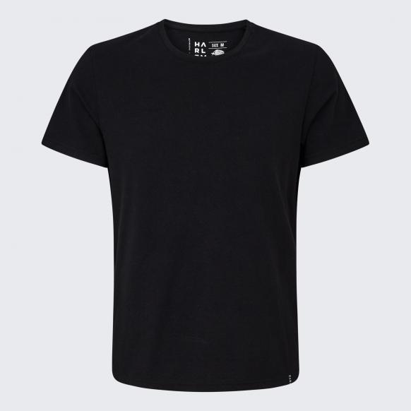 T-Shirt mit Necktape black