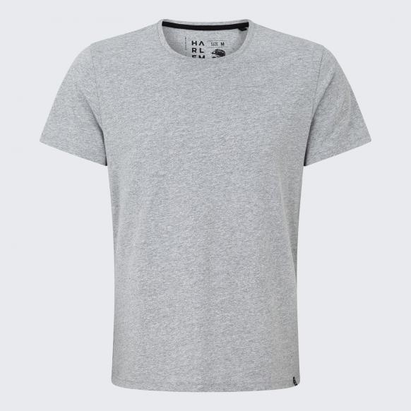 T-Shirt mit Necktape grey melange