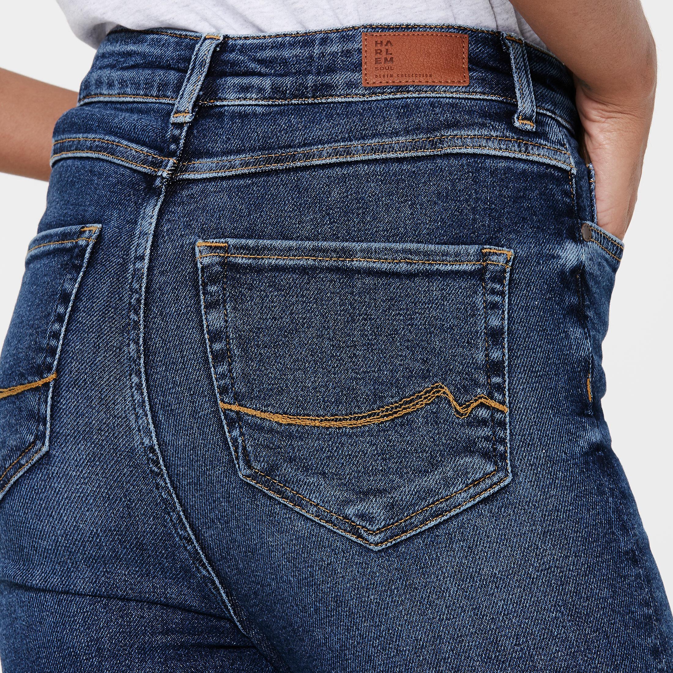 High Waist Skinny Jeans AL-MA blue